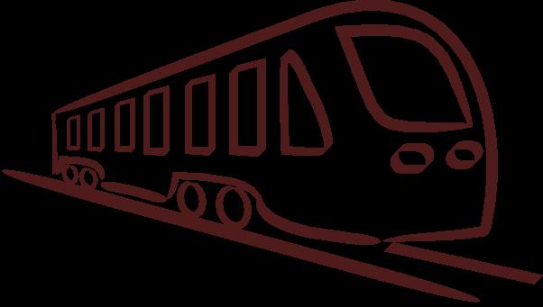 Zug Clipart Schwarz Weiß